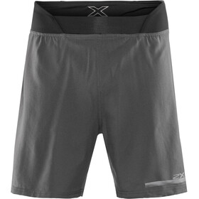 "2XU Run 2 In 1 Compression Shorts 7"" Men, charcoal/nero"